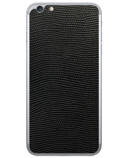 Кожаная наклейка Black Stingray для iPhone 6/6S