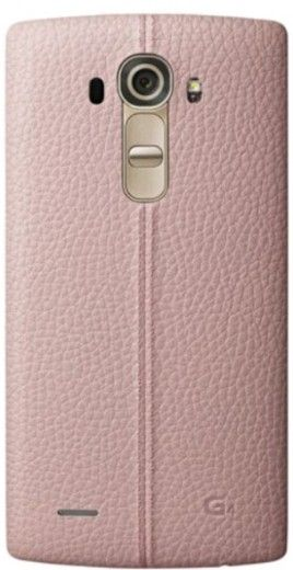Накладка LG G4 Leather Battery Cover для LG G4 H818 Pink (CPR-110.APRAPK)