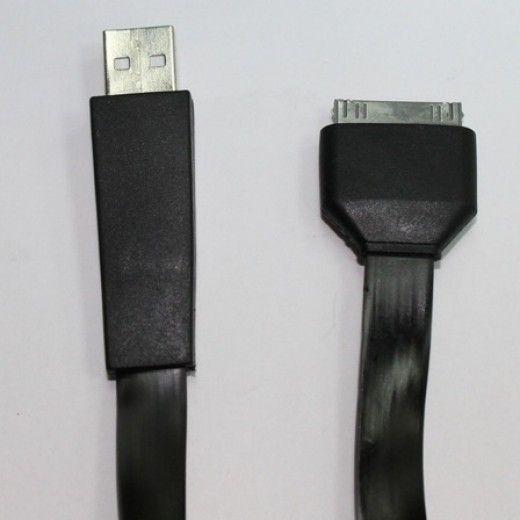 Кабель синхронизации Global шлейф, 1м для Apple iPhone Black