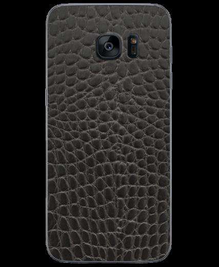 Кожаная наклейка Black Reptile  для Samsung Galaxy S7 edge (G935)