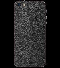 Кожаная наклейка Classic Black для iPhone 5S/SE
