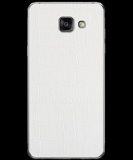 Кожаная наклейка White Alligator для Samsung Galaxy A3 (2016)