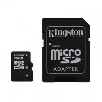 Карта памяти Kingston 16 GB microSD class 10 + адаптер G2 45 Mb/s (SDC10G2/16GB)