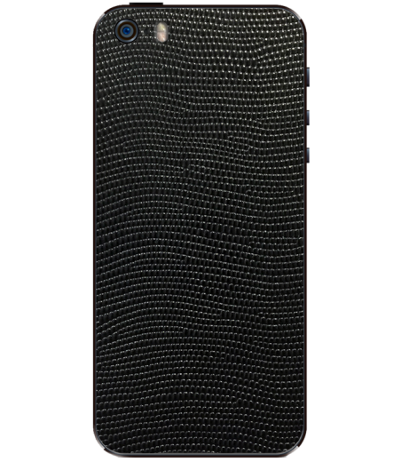 Кожаная наклейка Black Stingray для iPhone 5S/SE
