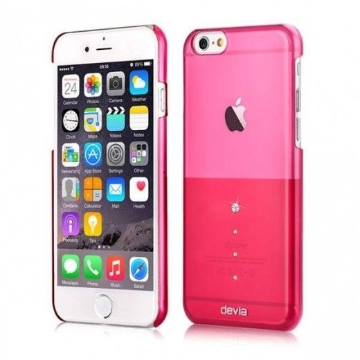 Чехол Devia Crystal Unique iPhone 6 Rose Pink