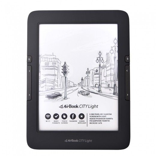Электронная книга AirBook City Light Touch Black