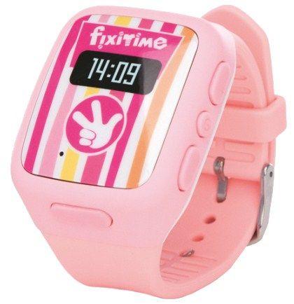 Детские телефон-часы с GPS трекером FixiTime Smart Watch Pink (FT-101P)