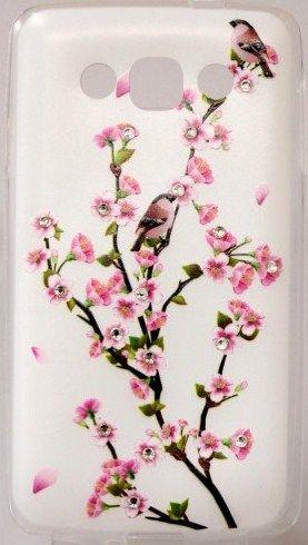 Панель Diamond Silicone LG L60 Sakura Blossom