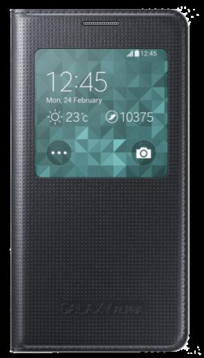 Чехол Samsung S View EF-CG850BBEGRU Black для Galaxy Alpha