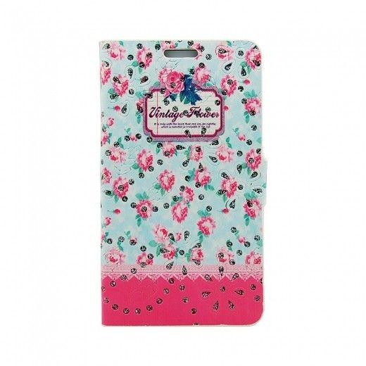 Чехол-книжка Book Cover Cath Kidston with diamonds Samsung J700 (J7) Pink