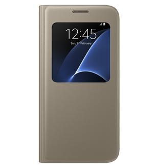 Чехол Samsung S View для Galaxy S7 Edge Gold (EF-CG935PFEGRU)