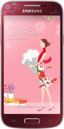 Мобильный телефон Samsung I9190 Galaxy S4 Mini Red La Fleur