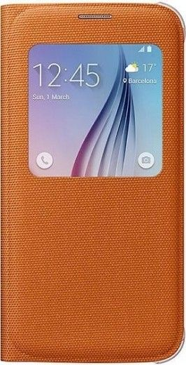 Чехол Samsung S View Zero для Samsung Galaxy S6 Orange (EF-CG920BOEGRU)