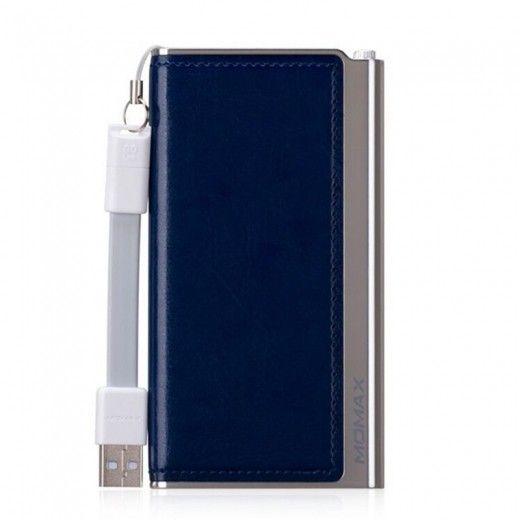Портативная батарея MOMAX iPower Elite External Battery Pack 5000mAh Blue (IP51AB)