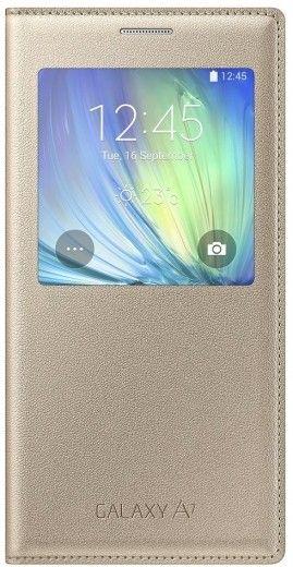 Чехол Samsung S Cover View для Samsung Galaxy A7 Gold (EF-CA700BFEGRU)