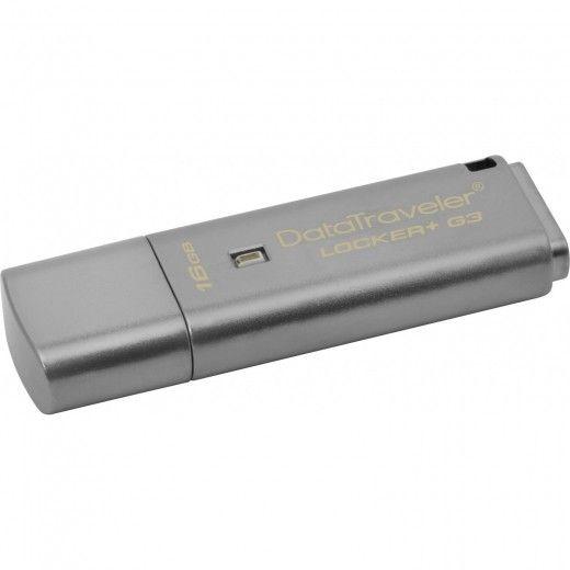USB флеш накопичувач Kingston DataTraveler Locker+ G3 16GB (DTLPG3/16GB)