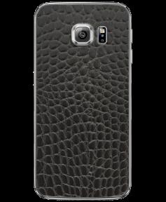 Кожаная наклейка Black Reptile  для Samsung Galaxy S6 edge + (G928)