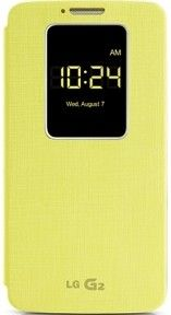 Чехол LG QuickWindow для LG G2 D802 Yellow (CCF-240G.AGEUYL)