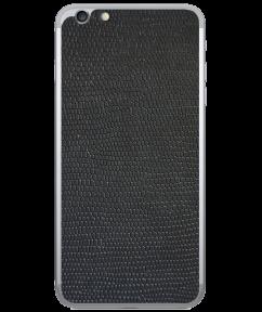 Кожаная наклейка Black Suede для iPhone 6/6S