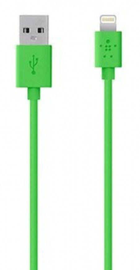 Кабель синхронизации BELKIN iPhone 5 Green (BK023)