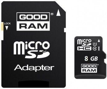 Карта памяти GOODRAM 8GB Micro SD UHS-1 + адаптер