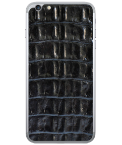 Кожаная наклейка Black Croco  для iPhone 6 Plus