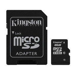 Карта памяти Kingston MicroSDHC 8GB Class 10 + SD-adapter (SDC10/8GB)