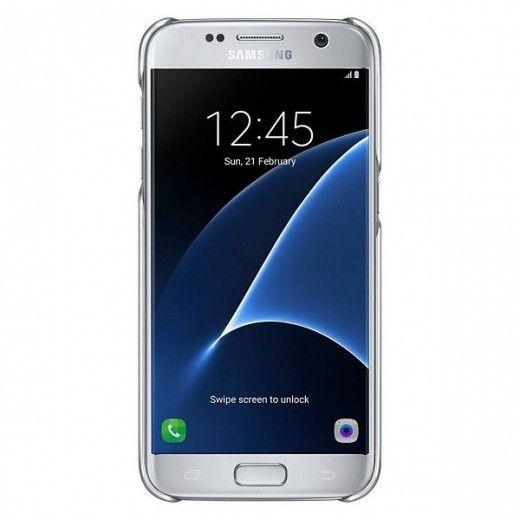 Чехол Samsung Clear Cover для Galaxy S7 Edge Silver (EF-QG935CSEGRU)