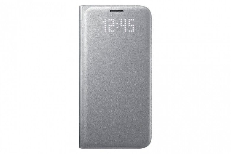 Чехол Samsung LED View для Galaxy S7 Edge Silver (EF-NG935PSEGRU)