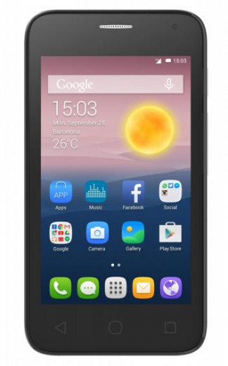 Мобильный телефон Alcatel One Touch 4024D Dual Sim Metal Silver