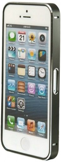 Бампер Metalic Slim iPhone 5 Black