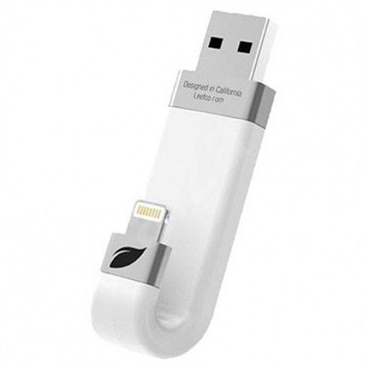 USB флеш-накопитель Leef iBridge Lightning/USB 64Gb White