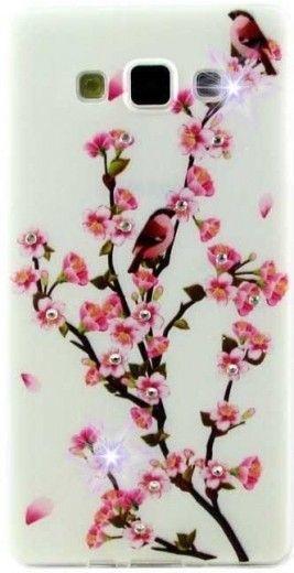 Чехол Diamond Silicone Samsung J700 (J7) Sakura Blossom