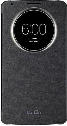 Чехол LG QuickWindow для LG G3 D855 Black (ССF-340G.AGEUTB)