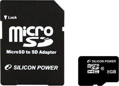 Карта памяти Silicon Power 8GB Class 10 UHS-I Elite + ad