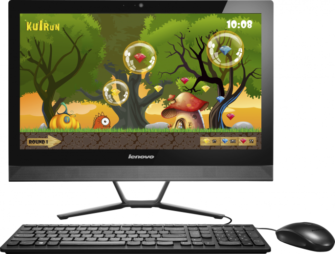 Моноблок Lenovo C50-30 (F0B1005LRK) Black