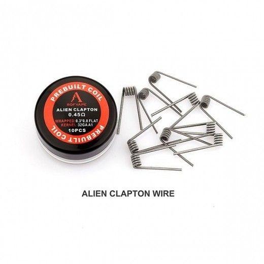 Проволока для спирали Rofvape Prebuild Coils Fused Clapton Wire 0,45 Ом (10pcs)