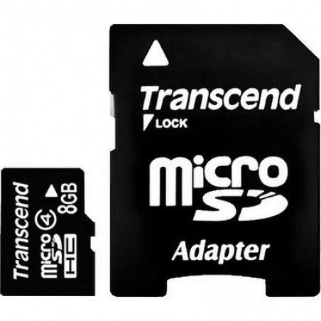 Карта памяти Transcend 8 GB microSDHC class 4 + SD Adapter TS8GUSDHC4