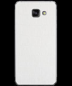 Кожаная наклейка White Alligator для Samsung Galaxy A5 (2016)