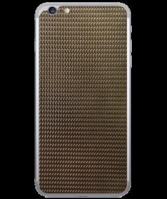 Кожаная наклейка Dark Gold для iPhone 6/6S