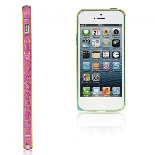Бампер Metalic Slim Elegant iPhone 6 Pink