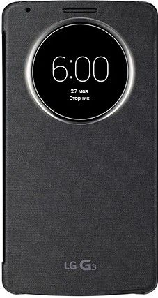 Чехол LG QuickWindow для LG G3 D855 Black (CCF-345G.AGEUTB)