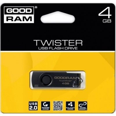 USB флеш накопитель Goodram GOODDRIVE TWISTER 16GB Black