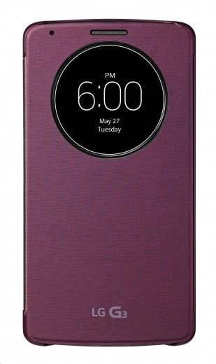 Чехол LG Quick Circle (Snap on) для LG G3 D855 Red (CCF-345G.AGEURD)