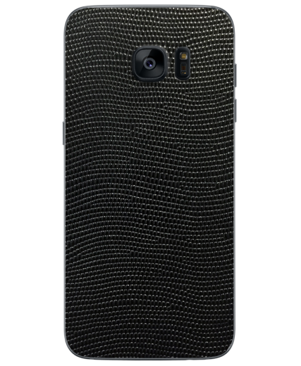Кожаная наклейка Black Stingray для Samsung Galaxy S7 (G930)