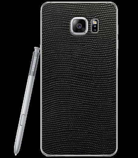 Кожаная наклейка Black Stingray для Samsung Galaxy Note 5 (N920)