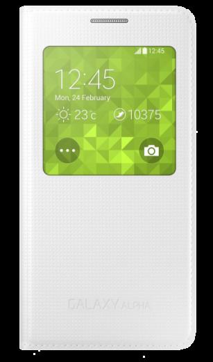 Чехол Samsung S View EF-CG850BWEGRU White для Galaxy Alpha