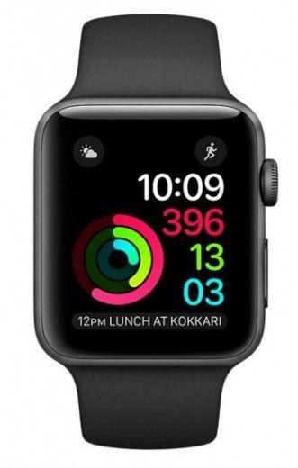 Смарт часы Apple Watch Series 2 38mm Space Gray Aluminum Case Black Sport Band