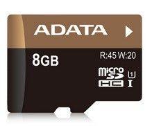 Карта памяти A-DATA 8GB microSD UHS-1 + adapter