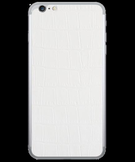 Кожаная наклейка White Alligator для iPhone 6/6S